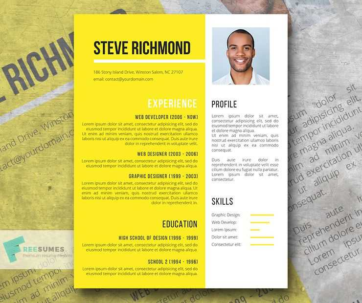 Goldrod Yellow Word Resume Template