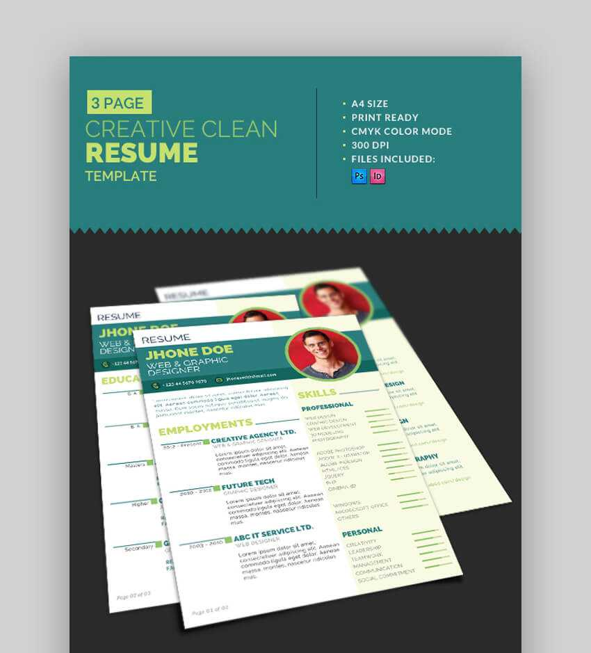 eyecatching And CoolResume Template