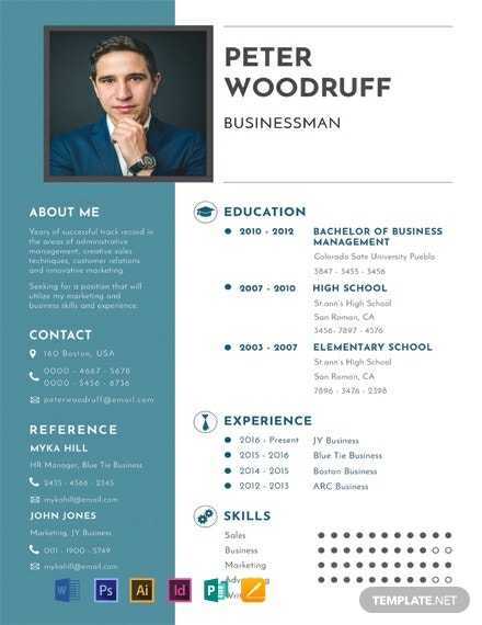 Clean And Light Microsoft Word One-Page Resume Templates