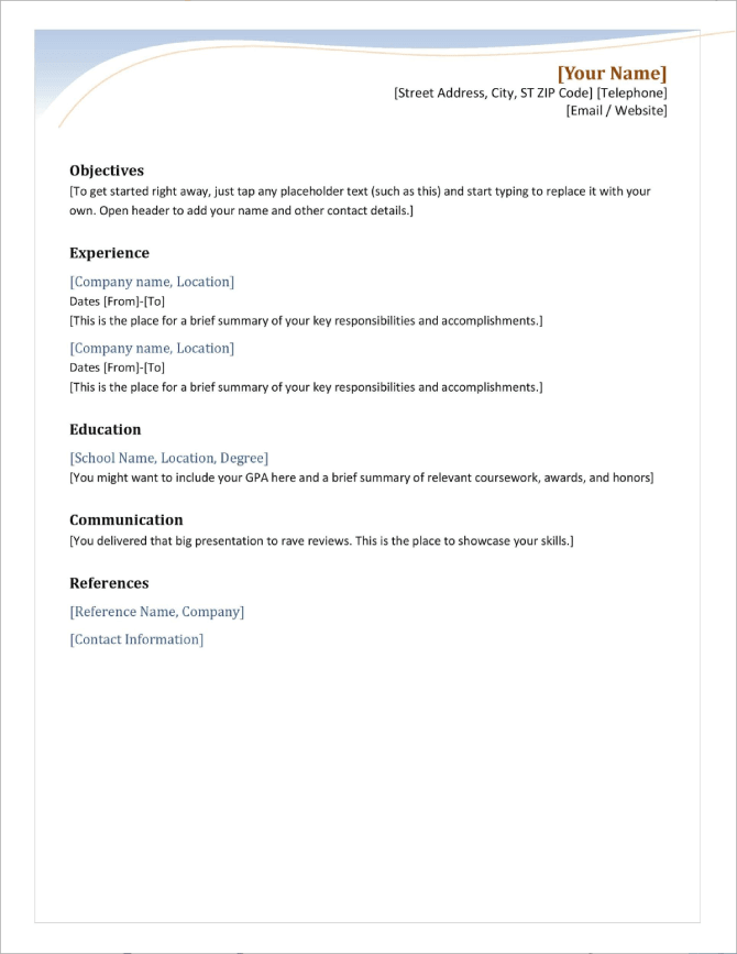 Neat and ProExecutive Resume Template