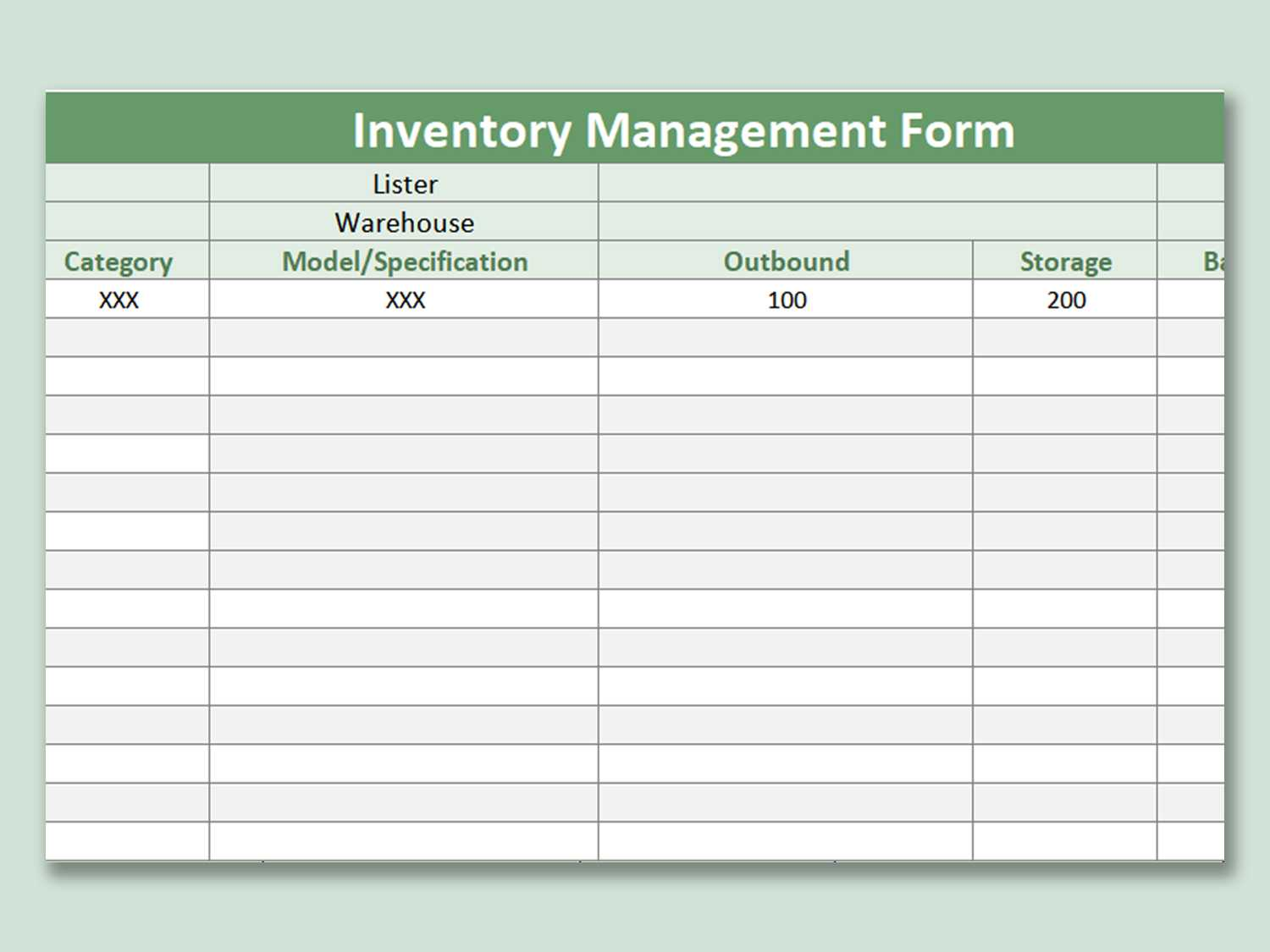 Free Inventory Control Template Download