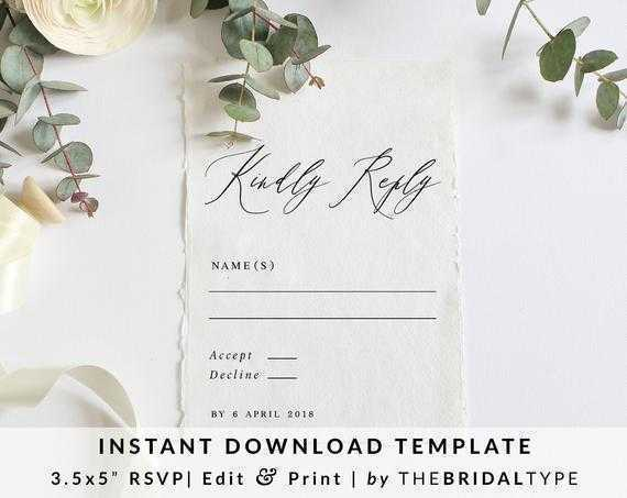 Classic Flowers Rsvp Template