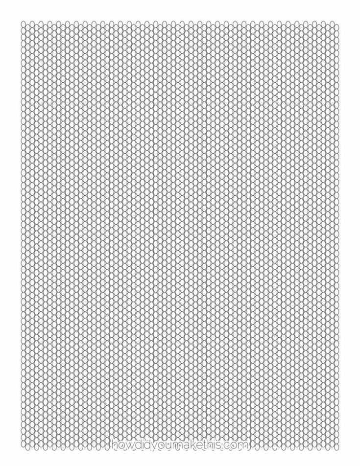 Free Printable Seed Bead Graph Paper Template Print