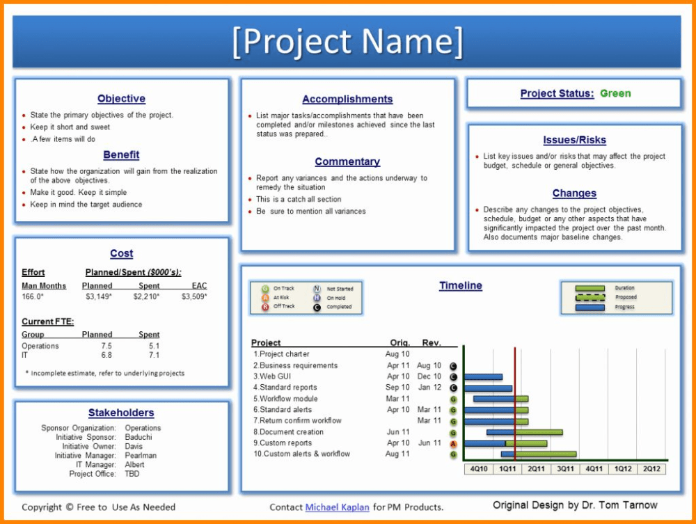 Executive Project Report Template