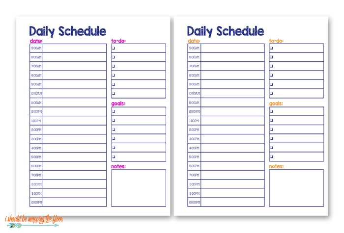 Student Planner Template