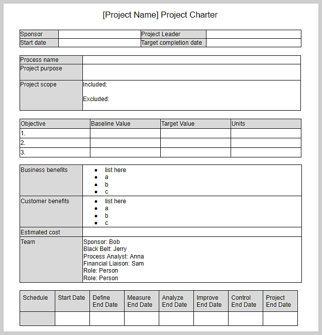 Digital Project Planner Template Word