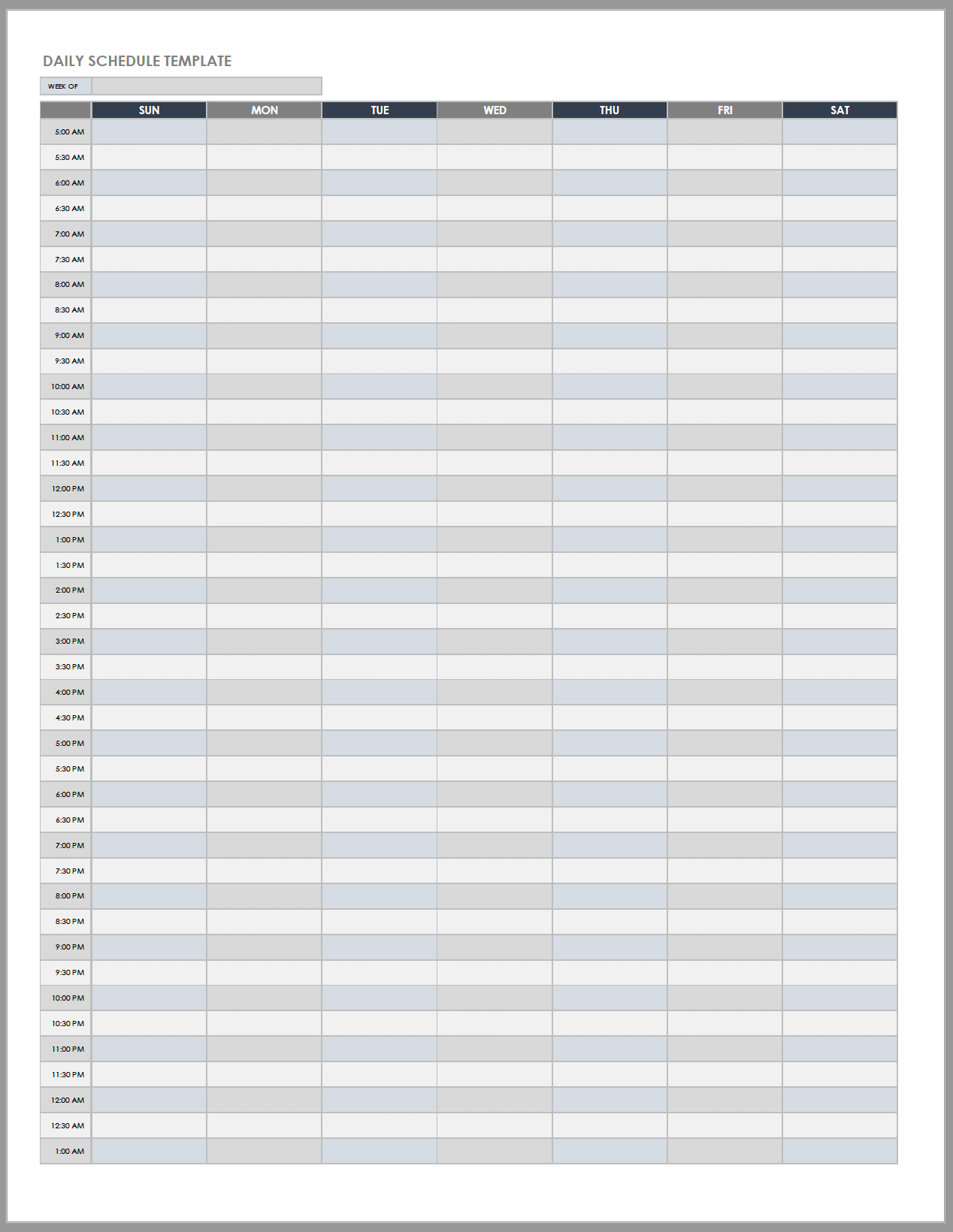 Hourly Planner Template Excel With To-Do List