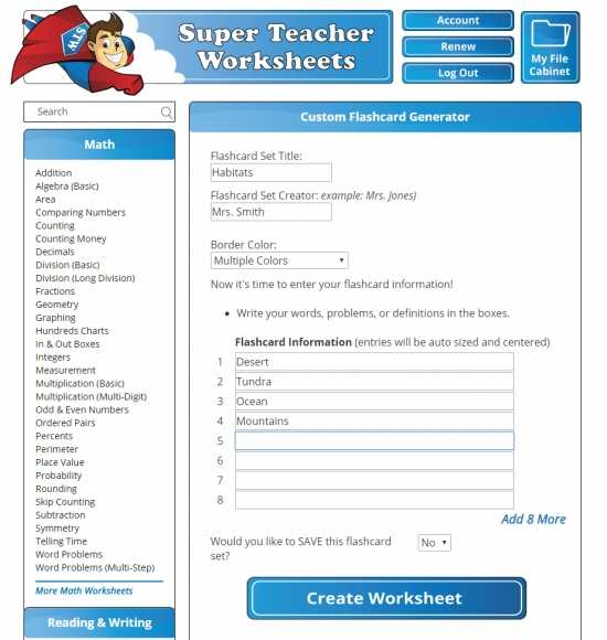 Example Science worksheets For 1st Grade Printable
