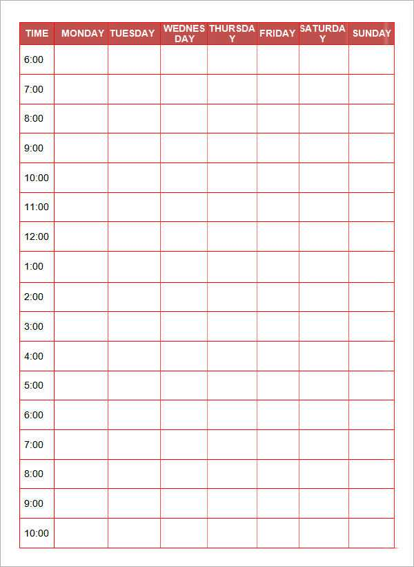 Simple Daily Planner Template Google Docs