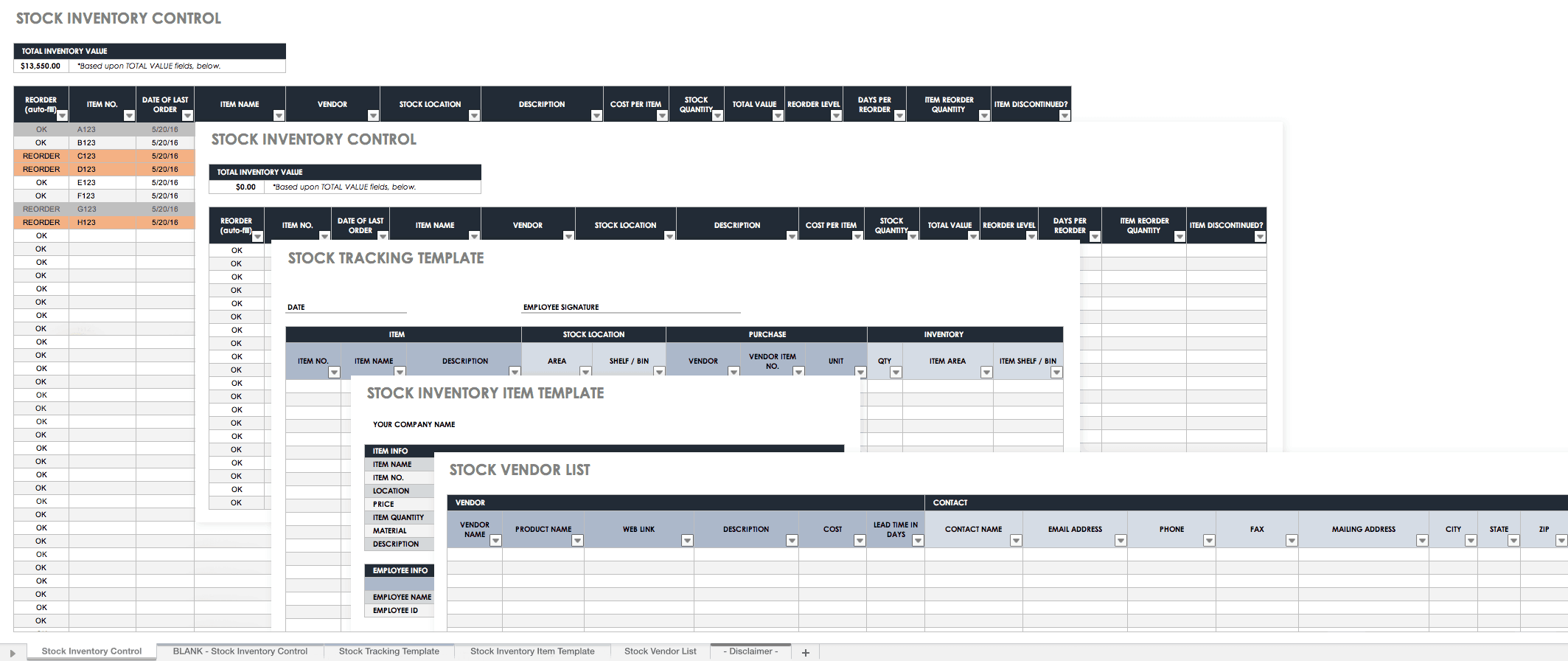 Retail Product Inventory Template Free Download