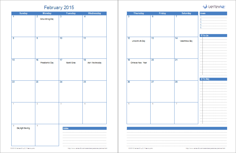 Personal Planner Template Excel