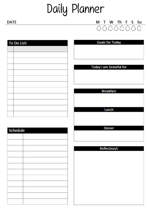 Daily Planner Template Excel With To Do List