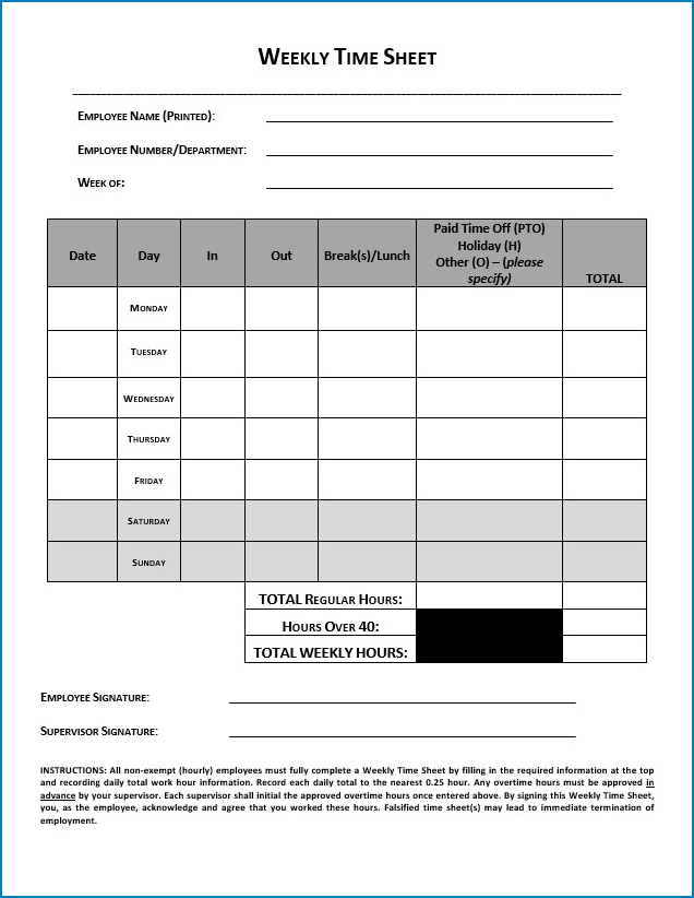 invoice timesheet template excel