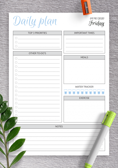 Planner Template Free